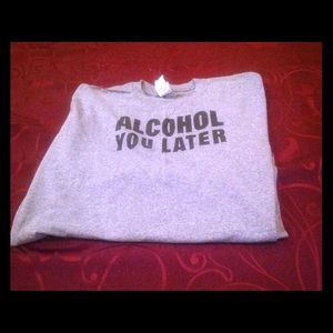 Other - Alcohol You Later Gray Tee Shirt, Men's 2XL